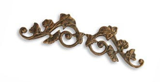Vintaj Natural Brass 55x15mm Deco Vines Border Filigree - Wrap x1