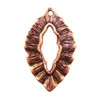 Trinity Brass Antique Copper 25x16mm Small Leaf Charm / Toggle x1