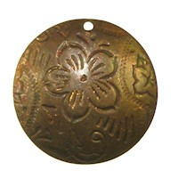 Trinity Brass Vintage Patina 20mm Dancing Flower Pendant x1