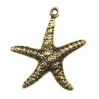 Trinity Brass Antique Gold 23x20mm Star Fish Charm x1