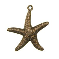 Trinity Brass Vintage Patina 23x20mm Star Fish Charm x1