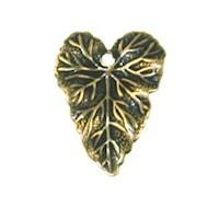 Trinity Brass Antique Gold 18x14mm Leaf Charm x1