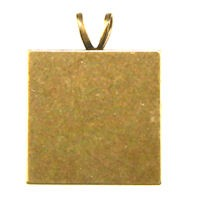 Trinity Brass Antique Gold 21x21mm Altered Square Blank with Bail x1