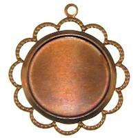 Trinity Brass Vintage Patina 18mm Beaded Lace Edge Setting x1