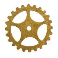 Trinity Brass Antique Gold 16mm Gear x1
