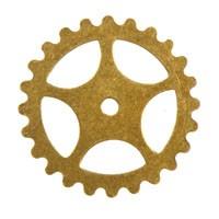 Trinity Brass Antique Gold 16mm Gear x1
