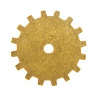 Trinity Brass Antique Gold 19mm Gear x1