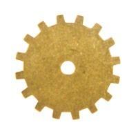 Trinity Brass Antique Gold 19mm Gear x1