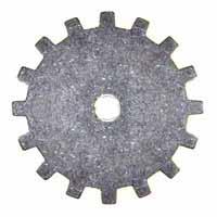Trinity Brass Antique Silver 19mm Gear x1