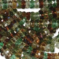 Czech Glass Fire Polished beads - 6/3mm Rondelle Earthtone x60