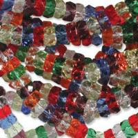 Czech Glass Fire Polished beads - 6/3mm Rondelle Rainbow x60