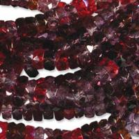 Czech Glass Fire Polished beads - 6/3mm Rondelle Vineyard x60
