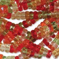 Czech Glass Fire Polished beads - 6/3mm Rondelle Tango x60