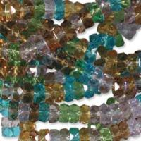 Czech Glass Fire Polished beads - 6/3mm Rondelle Prairie x60