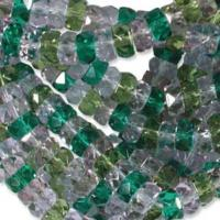 Czech Glass Fire Polished beads - 6/3mm Rondelle Lavender Garden x60