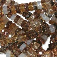 Czech Glass Fire Polished beads - 6/3mm Rondelle Honey Butter x60