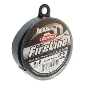 FireLine Braided Bead Thread .007 In/.17mm diameter 8LB 50yd Black