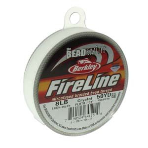 FireLine Braided Bead Thread .007 in/.17mm diameter 8LB 50yd, Crystal Clear