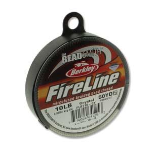 FireLine Braided Bead Thread .008 in/.20mm diameter 10LB 50yd, Crystal Clear