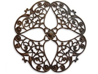 Vintaj Natural Brass 61mm Full Openwork Flower Filigree x1