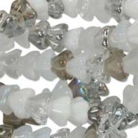 Czech Glass Flower Bell Beads 8/6mm Apparition x10pc