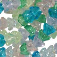 Czech Glass Flower Bell Beads 8/6mm Spring Flower x10pc