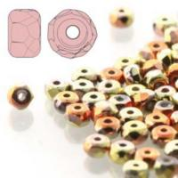 Czech Glass Fire Polished Micro Spacer Beads 2x3mm California Gold x50pc