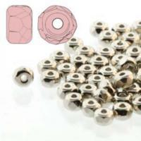Czech Glass Fire Polished Micro Spacer Beads 2x3mm Nickel Plate x50pc