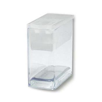 "Plastic Flip Top Clear Storage Tube 7/16""x1""x1"" (27x26x12.5mm) x1"