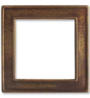 Vintaj Natural Brass 45mm Window Frame x1