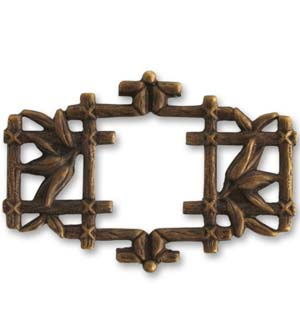Vintaj Natural Brass 40x27mm Asian Frame x1