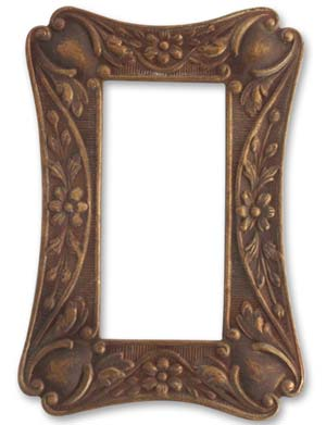 Vintaj Natural Brass 55x37mm Vanity Frame x1