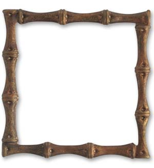 Vintaj Natural Brass 54mm Bamboo Frame x1