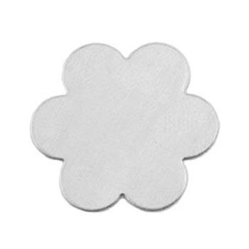Aluminium Soft Strike 6 Petal Flower 33.5mm 20g Stamping Blank x1