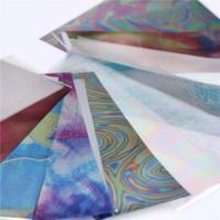 Rainbow Foil Transfer Sheets (4x160mm) x12pc.