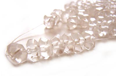Imperial Crystal Roundelle Beads 6x4mm Handcut Gemstone Style Crystal Clear (120pc approx)