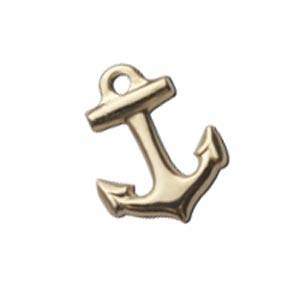 Gold Filled 11.3x8.7mm Anchor Charm x1