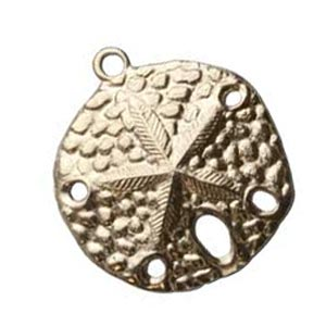 Gold Filled Charm Pendant 18.2x20.7mm Sand Dollar x1