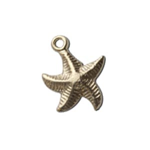 Gold Filled 10x12mm Starfish Charm x1