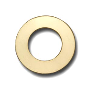 Gold Filled Washer 22.6mm od 12.7mm id 24g Stamping Blank x1