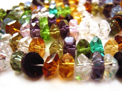 Imperial Crystal Roundelle Beads 6x4mm Handcut Gemstone Style Gemtone Mix
