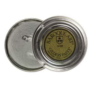 Gilders Paste 30 ml, 1.5 oz metal finishing wax, Silver