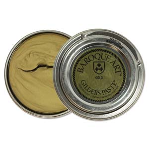 Gilders Paste 30 ml, 1.5 oz metal finishing wax, Gold