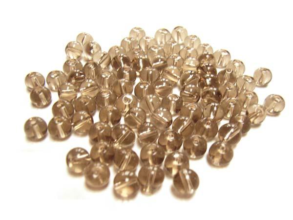 Round Glass Beads 4.5mm ~ Smoky Quartz per Strand