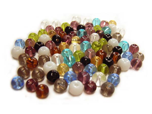 Round Glass Beads 4.5mm ~ Soup Mix x75