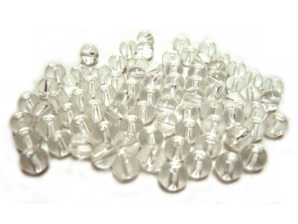 Round Glass Beads 4.5mm ~ Crystal Clear per Strand
