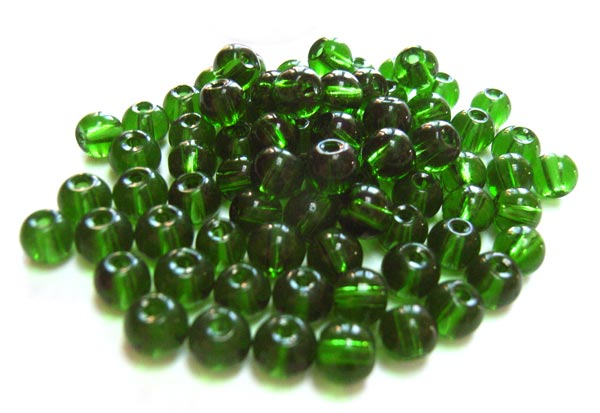Round Glass Beads 4.5mm ~ Evergreen per Strand