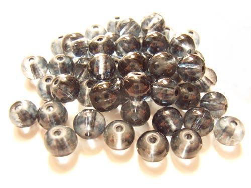 Round Glass Beads 6mm ~ Montana per Strand