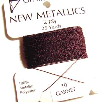 On the Surface - New Metallics 2 Ply 25yds Thread Garnet