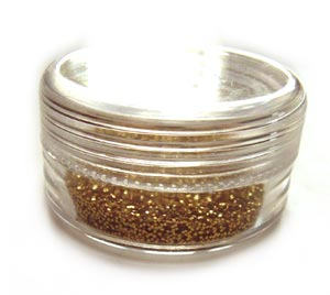 Small Glitter Container 2g - Gold
